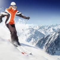 Veilig skiën op een drukke skipiste