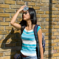 Symptomen van oververhitting of zonnesteek