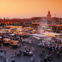 Vliegen naar Marrakech