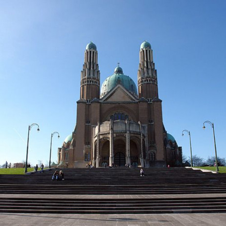 Voorkant van de Basiliek van Koekelberg