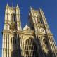 Vooraan Westminster Abbey