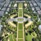 Luchtbeeld op het Champs de Mars